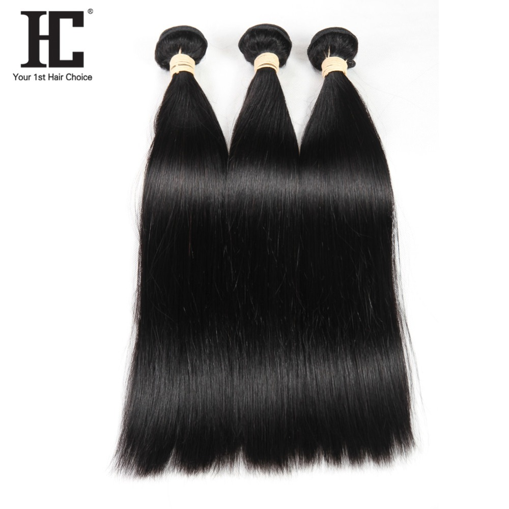 HC Malaysian Straight Human Hair Weave 3 Bundles 8-28 Inch Non Remy Natural Color Malaysian Human Hair Extensions Can Be Dyed