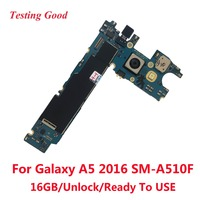Unlocked Main Motherboard Logic Board+Camera Replacement For Samsung Galaxy A5 2016 A510F 16GB