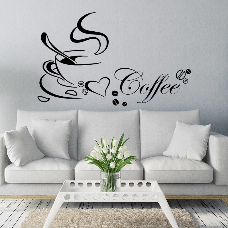 Coffee Cup DIY Removable Vinyl Wall Sticker Art Decal ...
