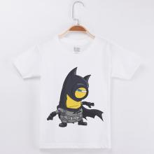 White T Shirt Boys 2019 Summer Children Clothing Cotton O-Neck Short Sleeved Tops Tee Cosplay Batman Printing Baby Kids T-Shirt