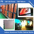 P6 6pcs/lot indoor full color led display aluminum profile cabinet 768mm*768mm fixed rental 1/16 scan panel billboard led screen
