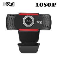 HXSJ USB Web Camera 1080P HD 2MP Computer Camera Webcams Built In Sound absorbing Microphone 1920 *1080 Dynamic Resolution
