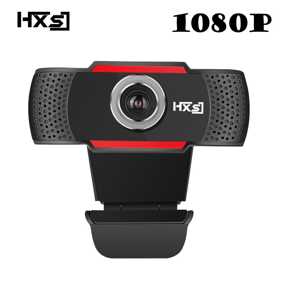 Hxsj USB веб-Камера 1080 P HD 2mp компьютер Камера Веб-камеры встроенный звукопоглощающим микрофон 1920*1080 динамический разрешение