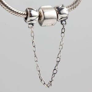 Аутентичные стерлингового серебра 925 безопасный цепь браслет бисер DIY украшения для женщин Бесплатная доставка