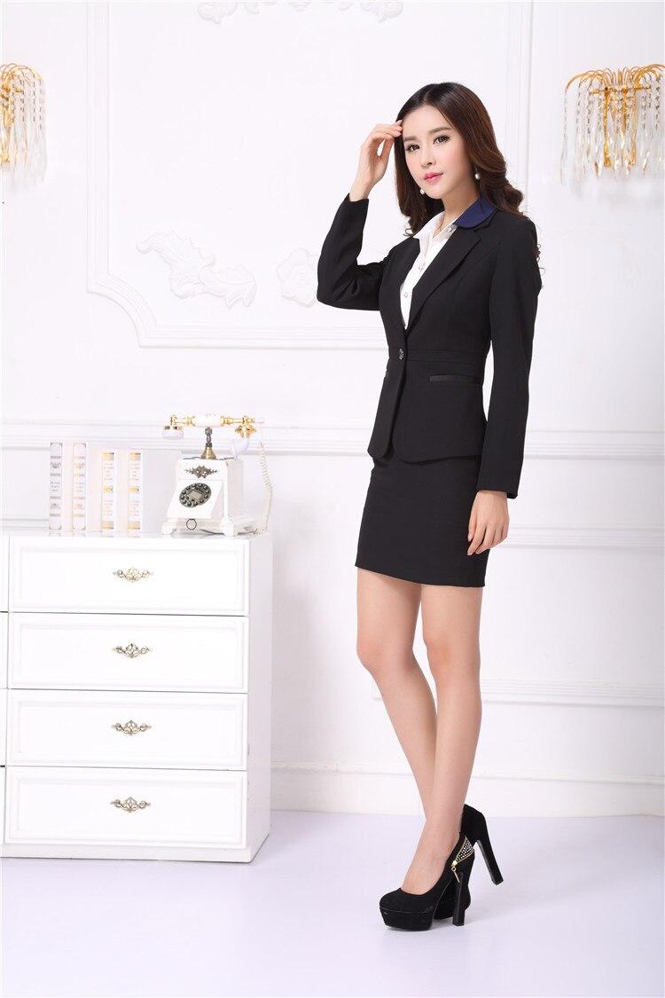 New Elegant Black Professional Fall Winter Business Women Work