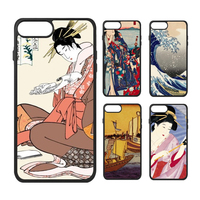 Japan Yamato E Ukiyoe Japanese Art Painting Kimono Woman Samurai Life Phone Case For IPhone X