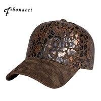 Fibonacci 2017 Nouvelle sangle réglable arrière daim casquette de baseball imitation peau de daim impression femmes hommes chapeau