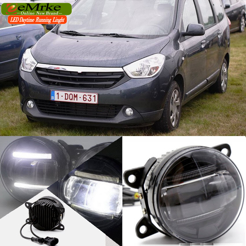 Yeats 1400LM 24W LED Fog Lamp, Bifocal + 560LM DRL Case For Dacia Duster Dokker Lodgy Logan Sanero Dawoo Nexia N150 etc