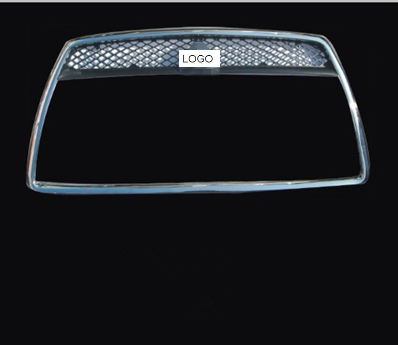 Car-covers ABS Front Grille Around Trim Racing Grills Trim fit For 2008-2011 Mitsubishi LANCER Car styling car covers abs chrome front grille around trim racing grills trim for peugeot 307 car styling
