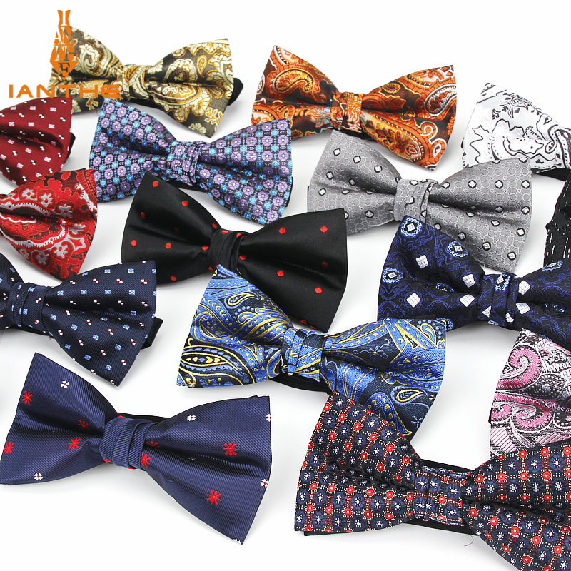 Bowtie Men Formal Dot Necktie Boy Men's Fashion Business Wedding Bow Tie Male Dress Shirt Krawatte Legame Paisley Butterfly