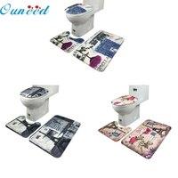 SP 21 Mosunx Business 2016 Hot Selling 3Pcs Set Bathroom Non Slip Blue Ocean Style Pedestal
