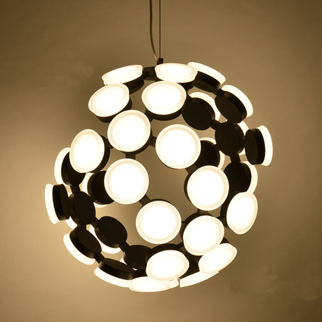 Factory direct post modern simple personality led broken light body ion atomic structure acrylic led