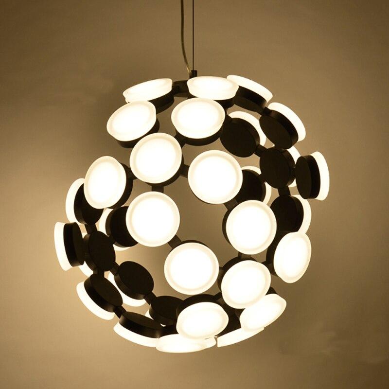 Usine directe post-moderne simple personnalité LED cassé lumière corps ion atomique structure acrylique Led Pendentif Lampes livraison gratuite