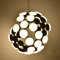 Factory Direct Post Modern Simple Personality LED Broken Light Body Ion Atomic Structure Acrylic Led Pendant