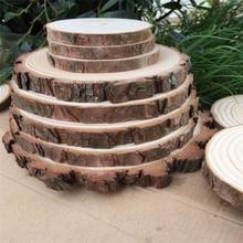 Rodajas de madera rústicas tamaño grande 6/8/10 pulgadas hoja de madera virutas de madera país boda Vintage decoración de fiesta