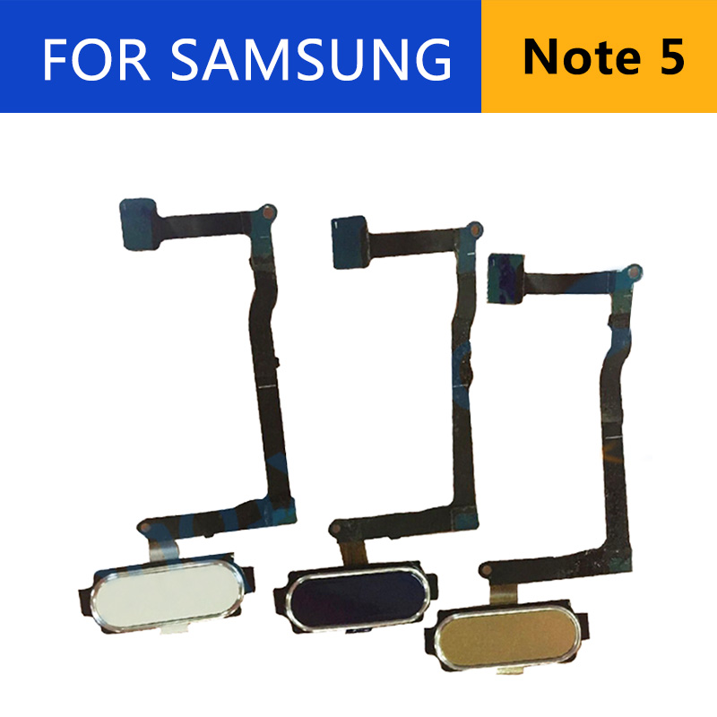 For Samsung Galaxy Note5 N920 N920F Fingerprint Sensor Home Button Flex Cable Replacement Parts Note 5