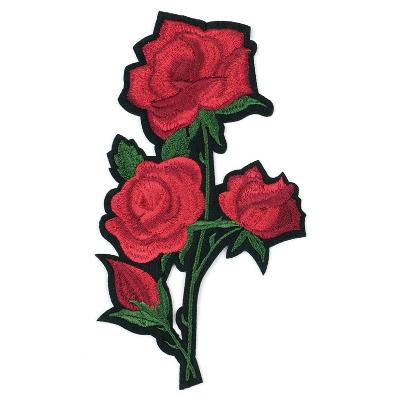 ÚJ 18.5cm * 10cm 3D rózsa virágfolt A hímzett ruházat - Művészet, kézművesség és varrás