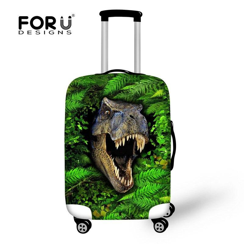 Forudesigns Для мужчин Туристические товары Прохладный животных Динозавр принты спандекс дождевик для 18 20 22 24 26 28 30 inch Trunk чехол 2017