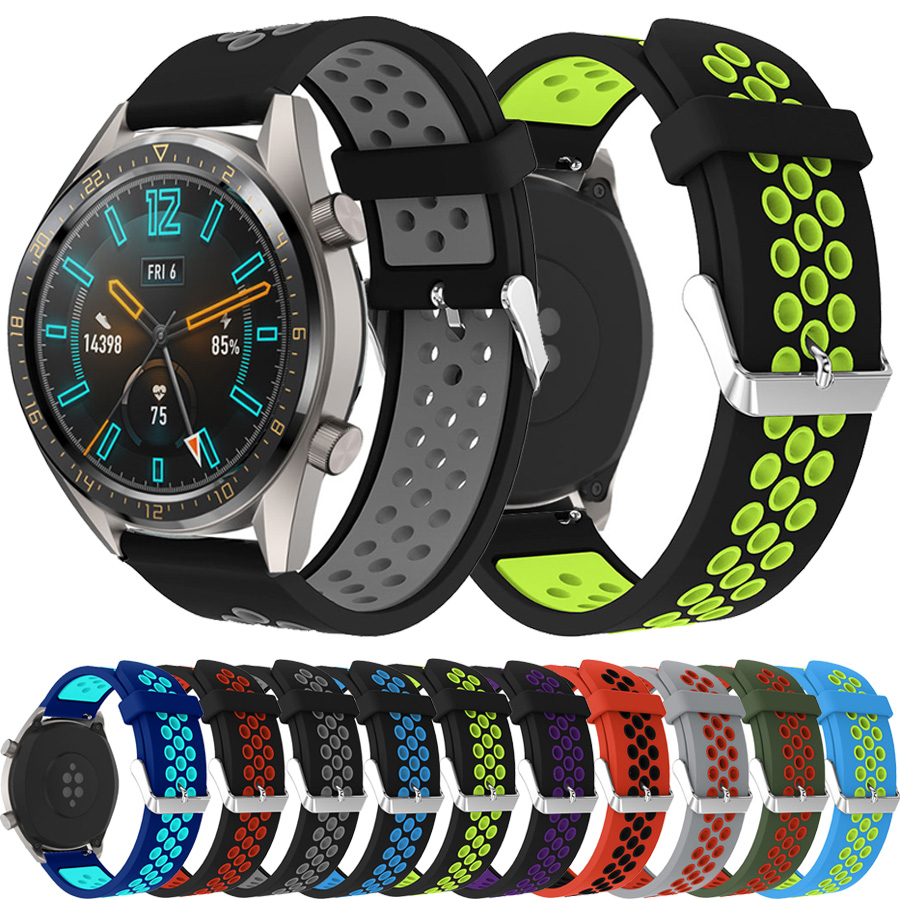 Breathable Silicone Sports Band For HUAWEI WATCH GT GT2 22MM Strap Band Bracelet Belt Sport Replacement Watch Band For Gear S3