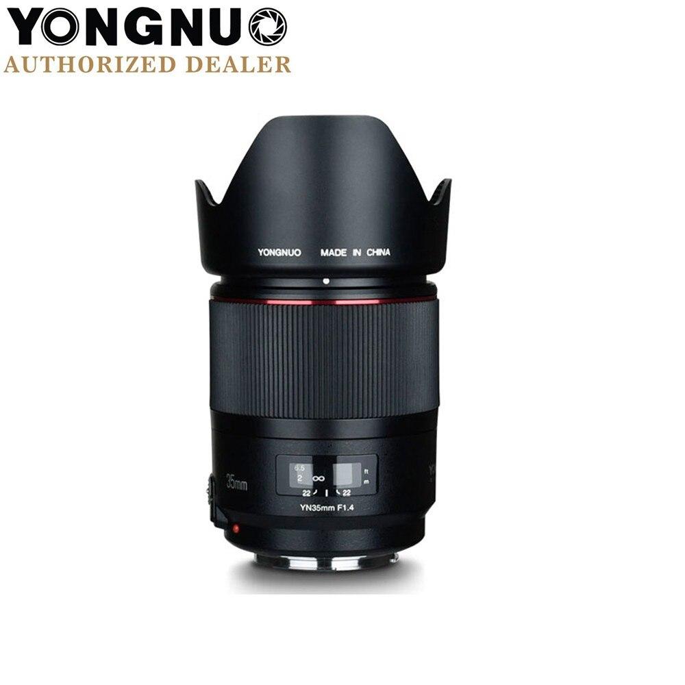 YONGNUO YN35mm F1.4 objectif Grand-Angle à Focale fixe pour APPAREIL PHOTO REFLEX NUMÉRIQUE Canon Dont 40D 50D 60D 70D 80D 7D 7DII T7I 750D 760D 650D 600D