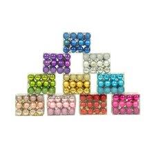 HOYVJOY 3cm 24PCS Merry Christmas Macaron Balls Tree Hanging Ornaments Decor foam balls Styrofoam