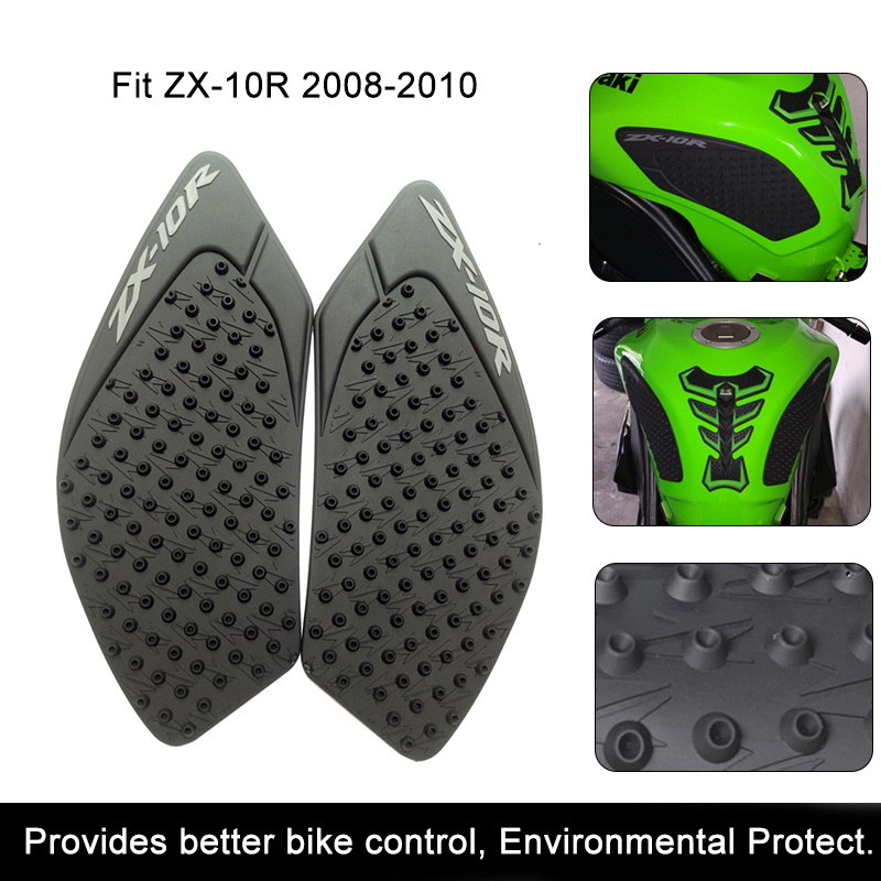 For Kawasaki ZX-10R 2008 2009 2010 ZX10R Motorcycle Anti Slip Tank Pad 3M Side Gas Knee Grip Traction Pads Protector Stickers