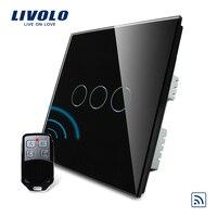ValueBox Livolo Black Pearl Crystal Glass Panel Wireless Remote Control UK Switch Remote VL C303R 62