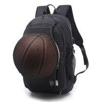 2018 Sport Backpack Men Basketball Backpack School Bag for Teenager Boys Soccer Ball Pack Laptop Bag Football Net Gym Bags Male