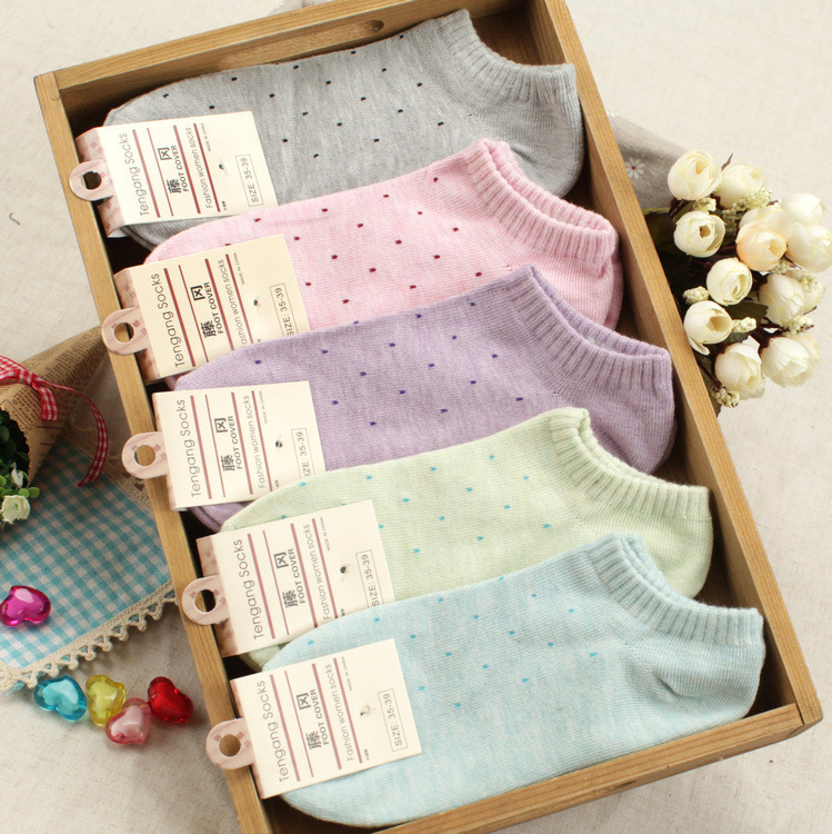 20 pieces=10pairs of small Polka dot size of female women