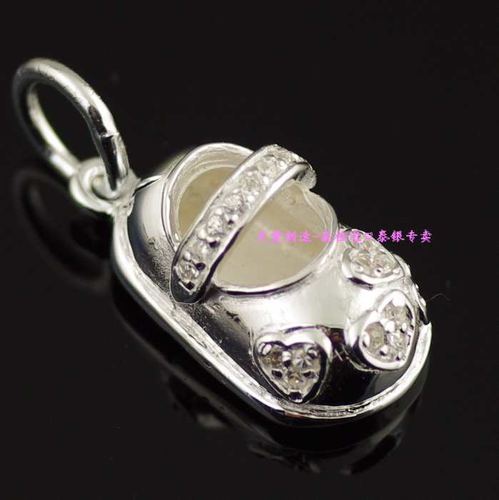 925 pure silver exquisite small womens shoes pendant925 pure silver exquisite small womens shoes pendant