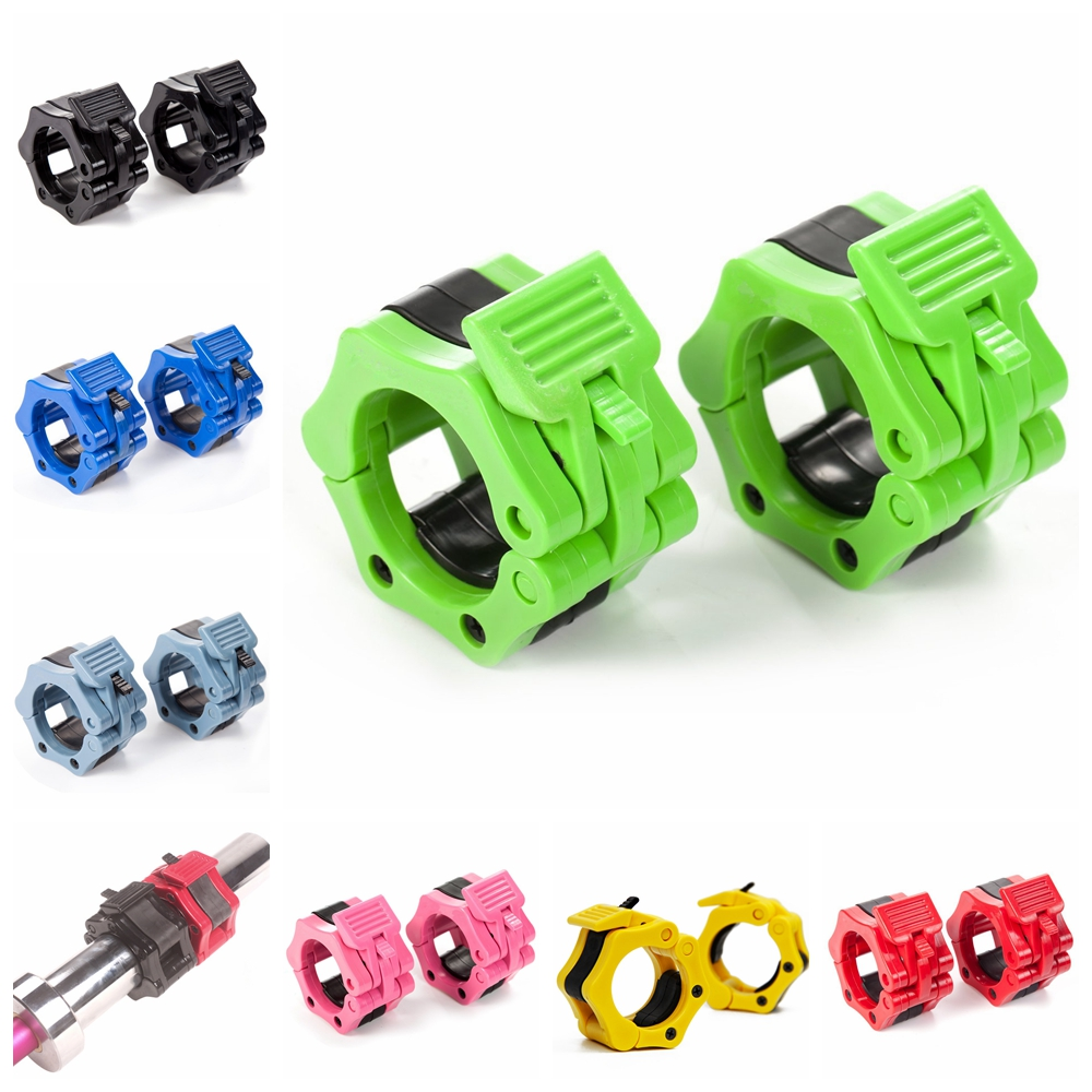 1 Pair 1 2 Barbell Collars Standard Olympic Spinlock Clamps Dumbbel Spring Clips Lock Ja ...