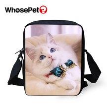 WHOSEPET Kids Flaps Animal Prints Cartoon Cross Body Messenger Bags Men Satchel Shoulder Cool School Bag Mini Postbag