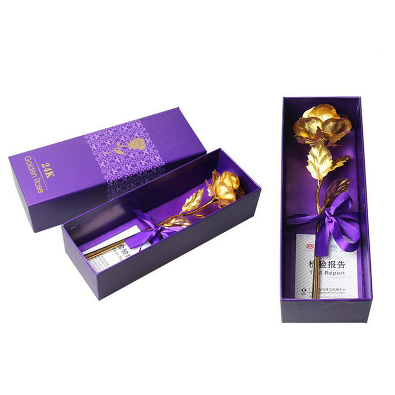 Mother Day Gift Gold Rose  100% 24 K Plated Gold Foil Flower for Mother Day Gift