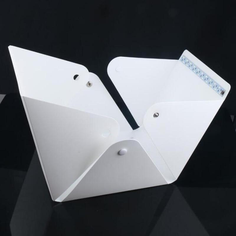 Image 5 - Baolyda 20 LED Mini Studio Photo Box 24cm Light Box for Photography Box Folding Lightbox Whitebox Photobox-in Tabletop Shooting from Consumer Electronics