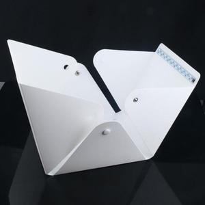 Image 5 - Baolyda 20 LED Mini Studio Photo boîte 24cm boîte lumineuse pour photographie boîte pliante Lightbox Whitebox Photobox