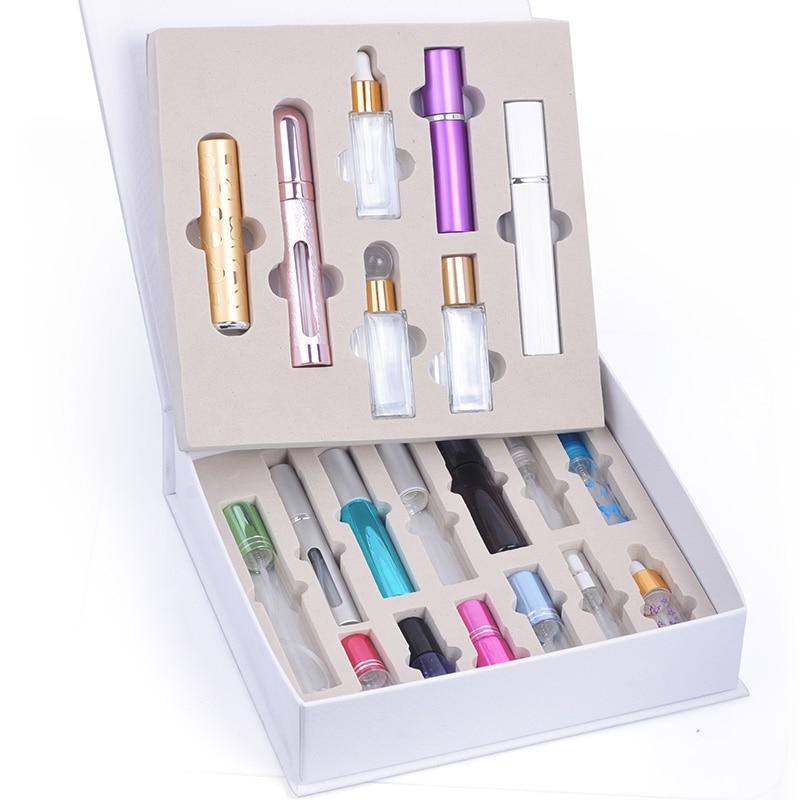 MUB-20 pièces bouteilles de parfum de voyage Portable vide parfum multi-couleurs atomiseur bouteille de recharge pour les femmes comme grande boîte-cadeau