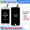 10/lot para iphone 6 s 4.7 pulgadas lcd pantalla táctil digitalizador asamblea de pantalla con calidad aaa blanco y negro caliente venta