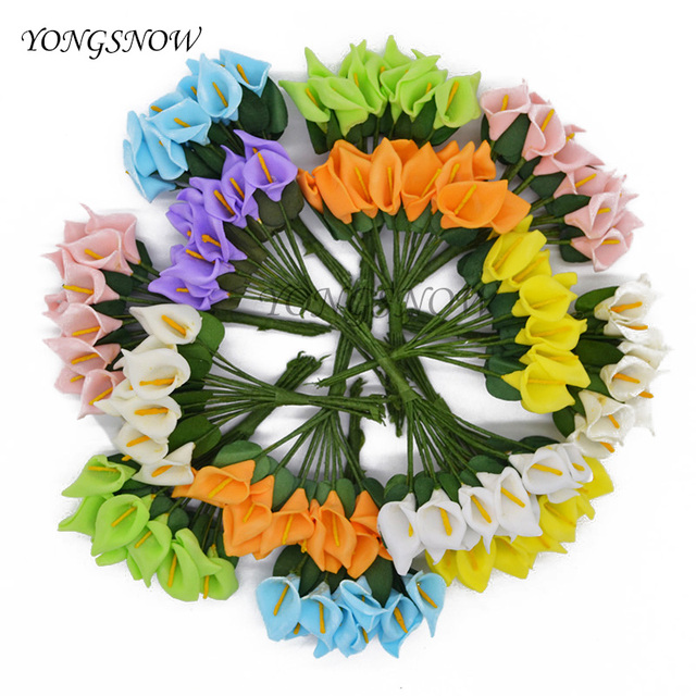144Pcs Wedding Decoration Handmade Pe Foam Calla Lily Flower Bouquet  Artificial Flower Wedding Home Decor DIY