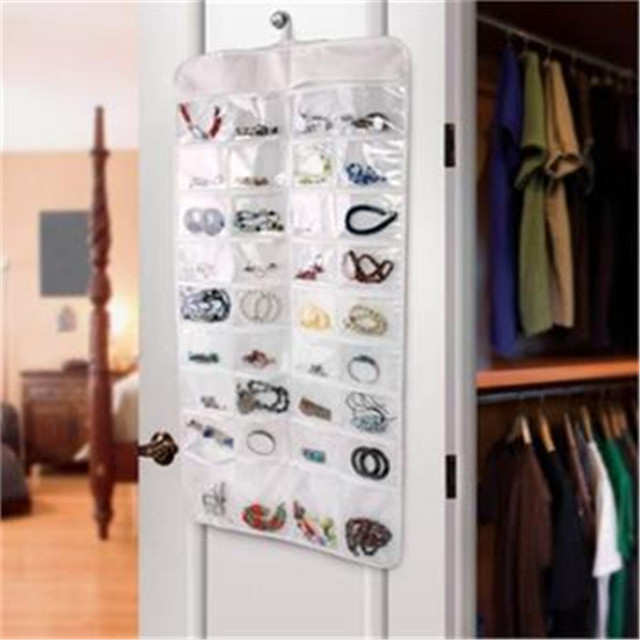 Double Sided 72 Pocket Hanging Jewelry Organizer Bracelet Earring