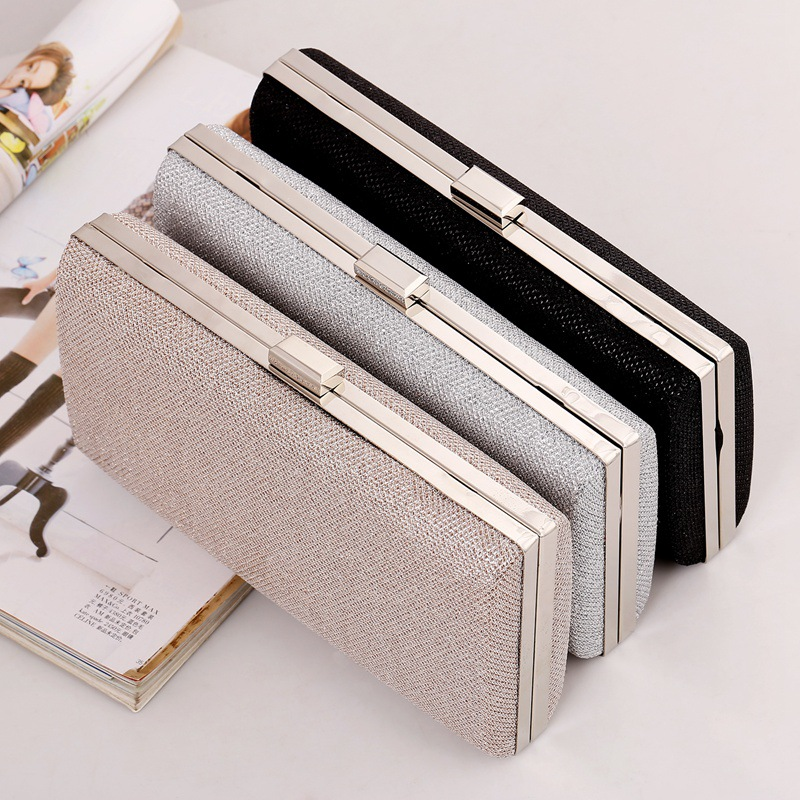 2017 New Woman Evening bag Diamond Rhinestone Clutch Crystal Day Clutch Wallet Wedding Purse Party Banquet Black/Gold Silver