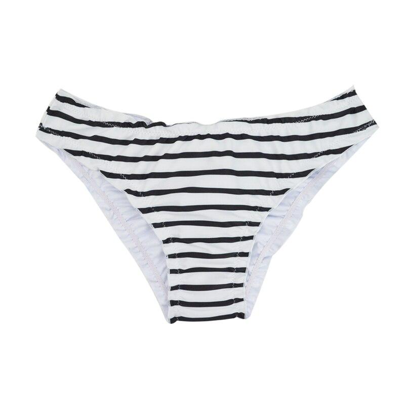 Женский купальник с низкой талией бикини снизу микро Chiffons печати двух частей отделяет плавки сексуальные купальник женский летний B607 - Цвет: B607O