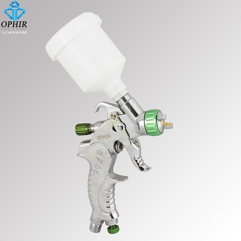 OPHIR Brand New Mini TOUCH-UP HVLP SPRAY GUN Auto Car Paint Spot Repair with Plastic Cup Professional Sprayer_AC046(1.0mm) samer e887 hvlp paint spray gun for all auto paint topcoat and touch up with 600ml plastic paint cup high atomization