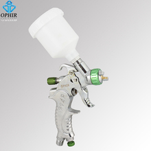 OPHIR Brand New Mini TOUCH-UP HVLP SPRAY GUN Auto Car Paint Spot Repair with Plastic Cup Professional Sprayer_AC046(1.0mm)