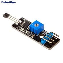 Sensor magnético hall com saídas analógicas e digitais. Detecção de proximidade magnético