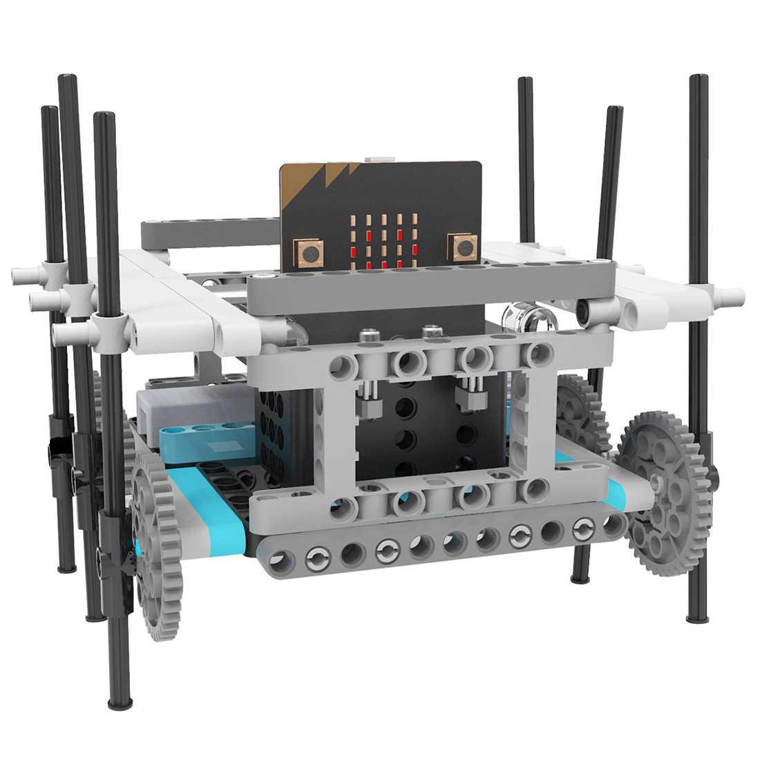 Набор роботов для микро: наборы робототехники для детей программируемые роботы-микробиты DIY игрушка автомобиль учебник отслеживание научное образование