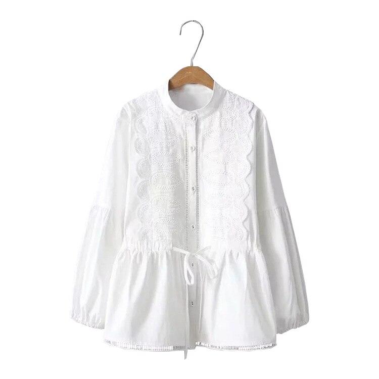 76e08275a14ee Топы женские Бисер свободные с длинными рукавами и круглым вырезом блузка  Толстовка Roupas Femininas ...