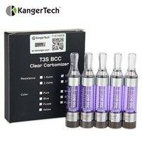 5 pcs E-Cig Kanger T3S eGo BCC 1.8 ohm Cartomizer Bobine Inférieure Modifiable Clearomizer match eGo/eGo-T/eGo C Torsion vaporisateur batterie