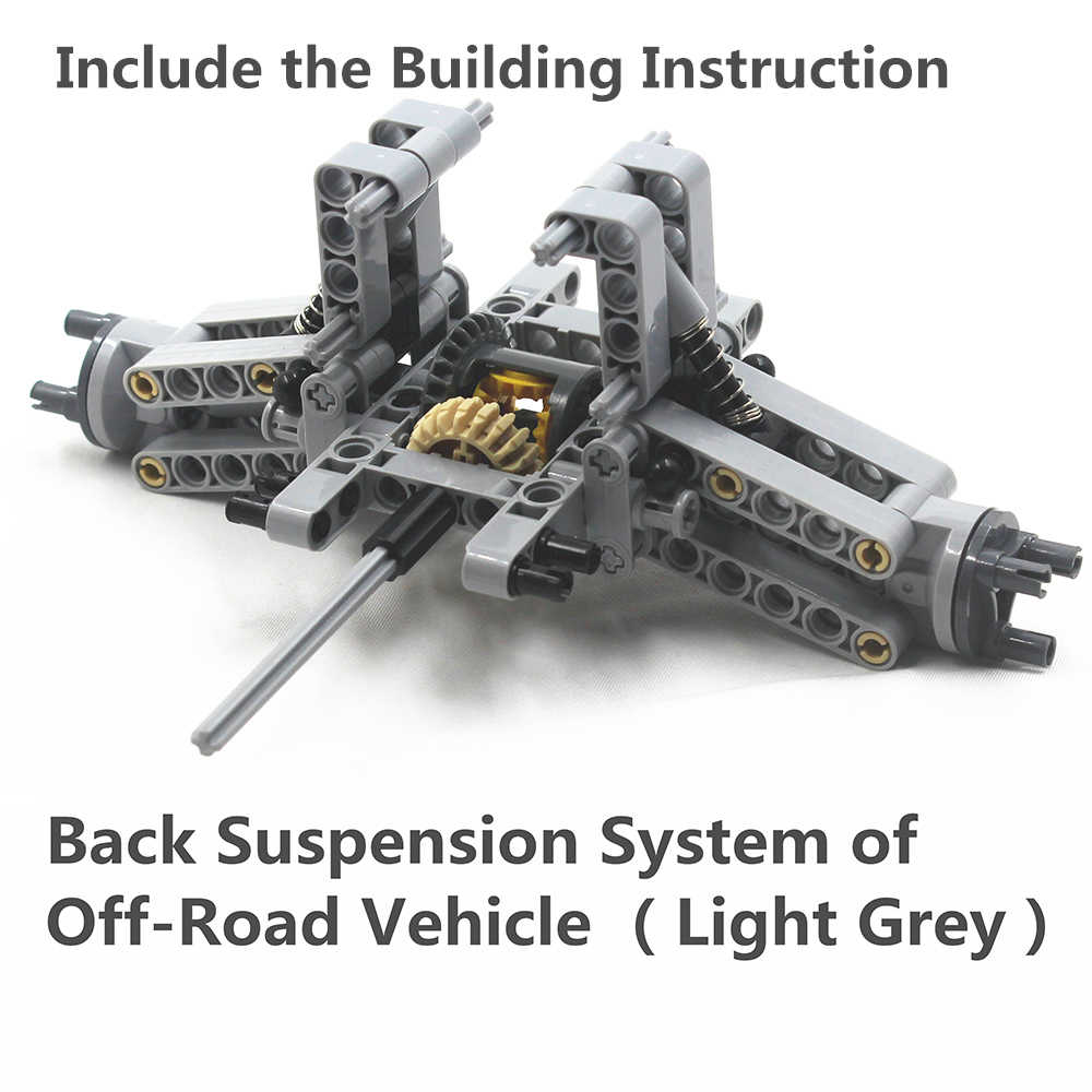 4 Light Gray Auto Suspension Axles ~ Lego ~ NEW ~ Technic