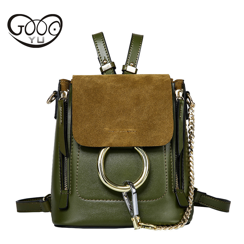 GOOG.YU New genuine leather bag small backpacks luxury Backpack women Famous Designer Luxury Brand Backpack Women Backpack hot sale women s backpack the oil wax of cowhide leather backpack women casual gentlewoman small bags genuine leather school bag