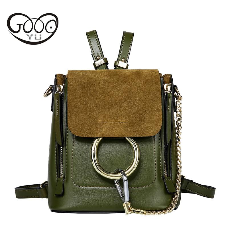 GOOG.YU New genuine leather bag small backpacks luxury Backpack women Famous Designer Luxury Brand Backpack Women Backpack